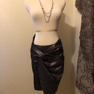 XS Zara Woman Silver Skirt